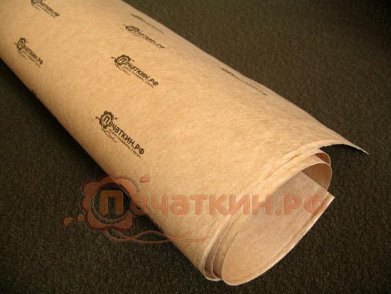 Крафт упаковочная бумага с Вашим логотипом