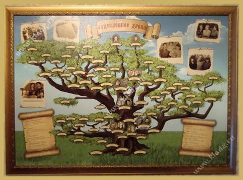 Генеологическое древо - замечательный способ воссоздать картину семейной родословной.  Оно станет ценной реликвией в...