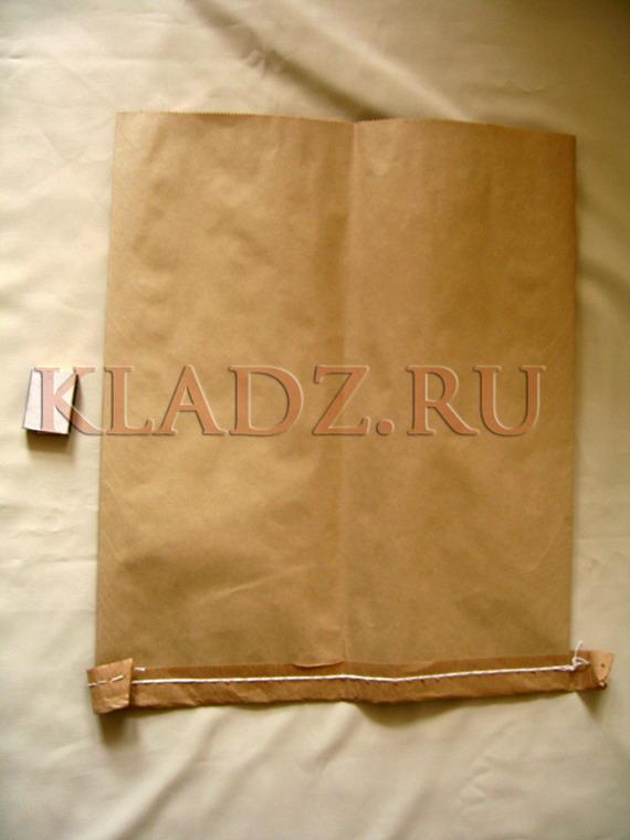 Мешок бумажный сшитый открытый