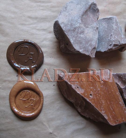 Коричневый и бронзовый сургуч